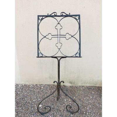 19th Wrought Iron Lectern, Height 140 Cm