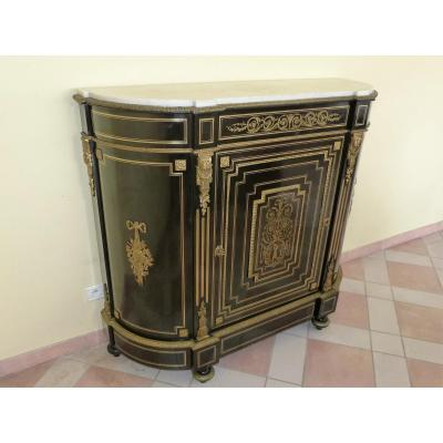 Support Furniture Napoleon III Curved In Blackened Wood And Gilded Bronzes