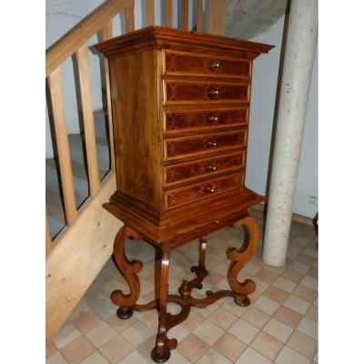 17th Century Walnut Cabinet: 159 Cm High