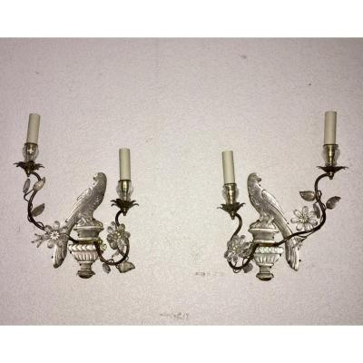 Pair Of Sconces At La Perruche Maison Baguès