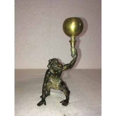Vienne Bronze By Bergmann, Monkey