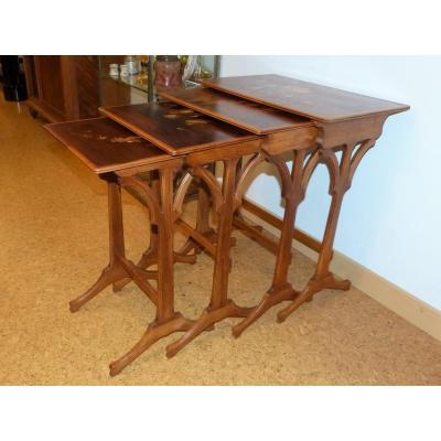 Tables Gigognes Gallé Art Nouveau Au Rossignol