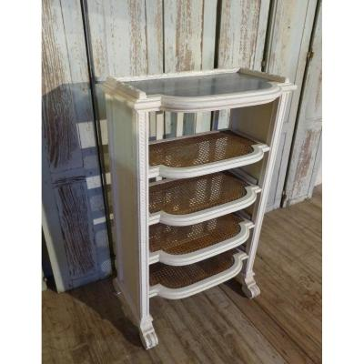 Lacquered Shelf, Canned Marble Top Late 19th Time