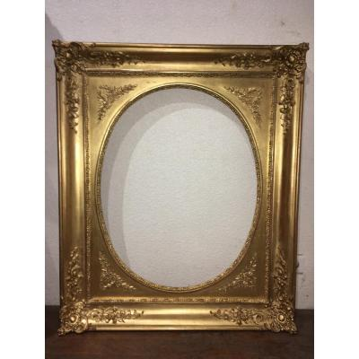 Large Golden Frame, Rectangle Or Oval Possible, 98 X 82 Cm
