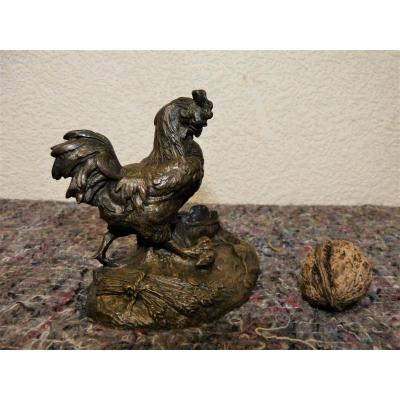 Animal Bronze, The Rooster And The Rat