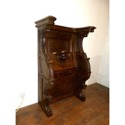 17th Century Church Stall In Carved Decor Oak