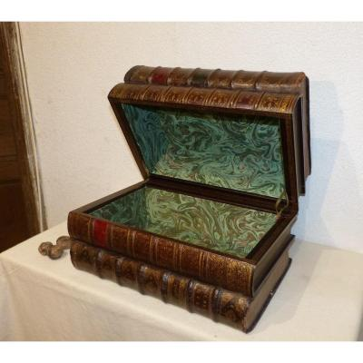 Moroccan Box, In Trompe l'Oeil Of Books, 19th