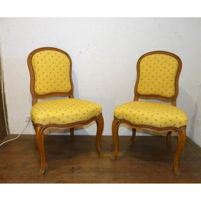 Pair Of Louis XV Period Chairs File To The Queen