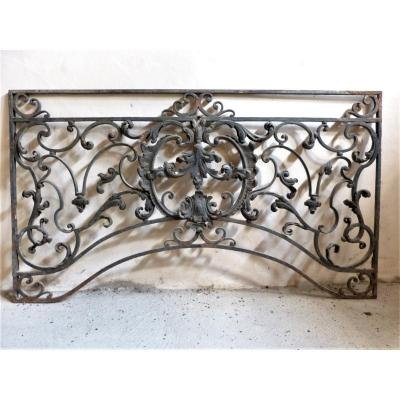 18th Double Sided Wrought Iron Grid 93 X 162 Cm