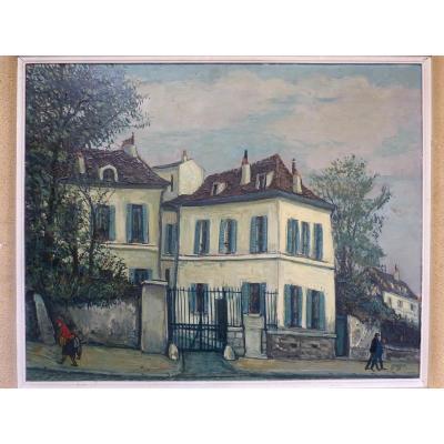 Alphonse Quizet Urban Landscape Butte Montmartre