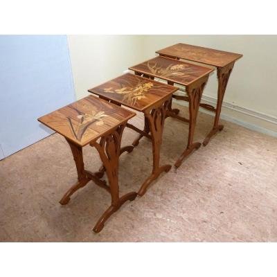Emile Gallé - Art Nouveau Butterfly Nesting Tables