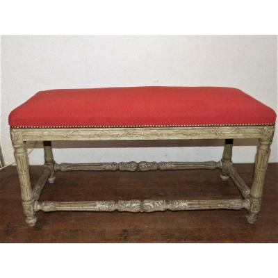 Louis XVI Style Bed Footboard In Lacquered Wood 19th