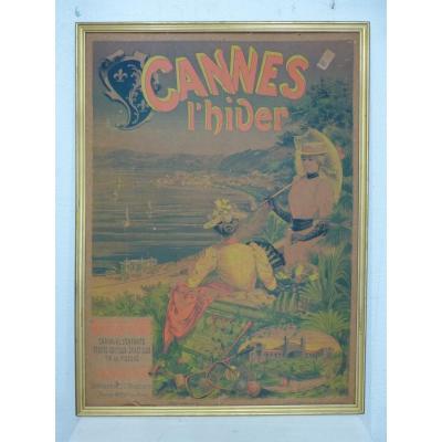 Cannes l'Hiver Tourist Poster, Imp Chaix (cheret Workshop), Flower Battle, Late 19th C.