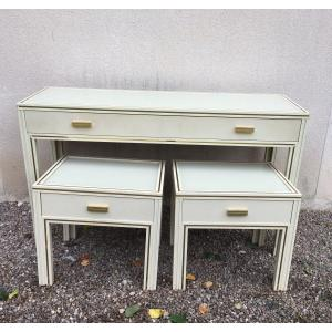 Pierre Vandel Console And Pair Of End Of Sofa Art Deco