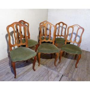 Series Of 6 Chairs In Cherry 19th