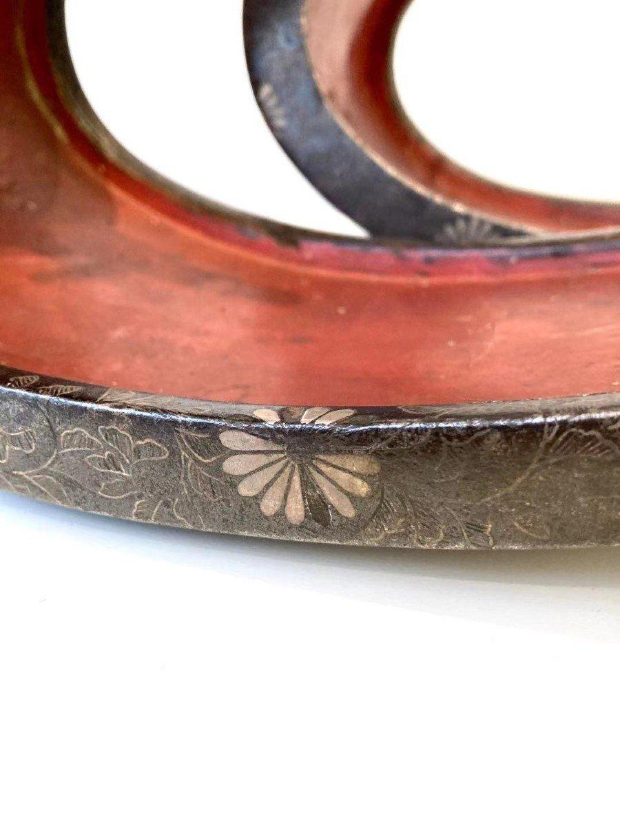 Paire d'Abumi (étriers) En Fer Et Incrustations d'Argent. Japon, XVIIIème -XIXème Siècle-photo-5