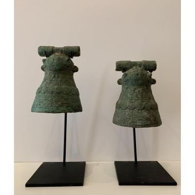 Pair Of Bells, Vietnam, Dông Son Culture (3rd - 1st Century Bc)