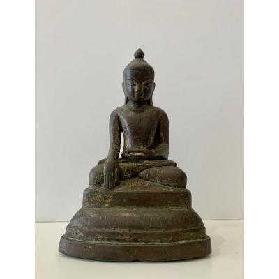 Bouddha En Bronze, Birmanie, Shan, XVIIIème Siècle