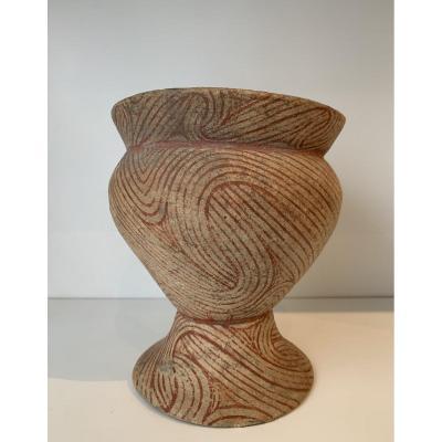 Vase En Terre Cuite à Motifs Géométriques, Thaïlande, Ban Chiang (1500 - 900 Av J.c)
