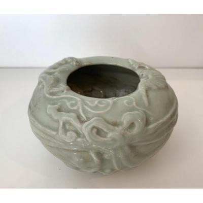 Rince Pinceau En Porcelaine émaillée Céladon, Chine, Dynastie Ming (1368-1644), XVIIe Siècle
