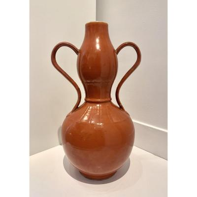 Vase Double Gourde marque Qian Long, Chine, Dynastie Qing, XIXème siècle