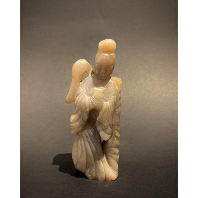 Guan Yin En agate. Chine, XXème Siècle