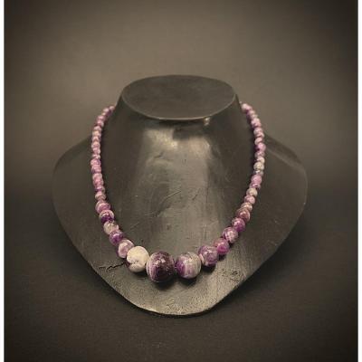Collier De Perles En Améthyste
