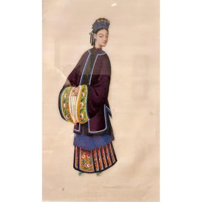 Gouache Sur Papier De Riz. Chine, XIXème Siècle.