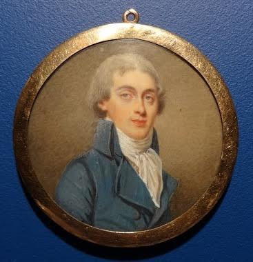 Portrait Miniature, French School, End Of Eighteenth Century