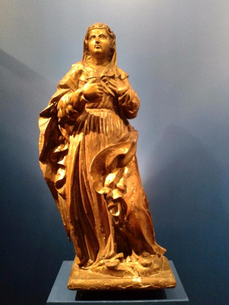 Gilded Wood Statue, St. Mary Magdalena, Provence, XVIIth Century