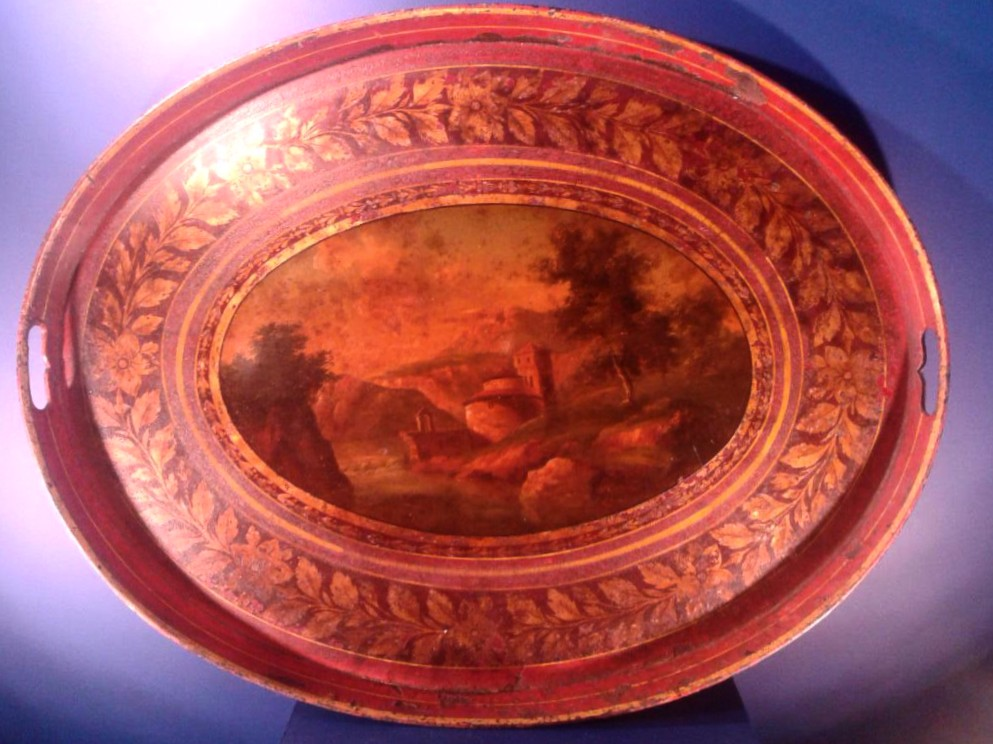 Salver Lacquered Red; France, Empire Period