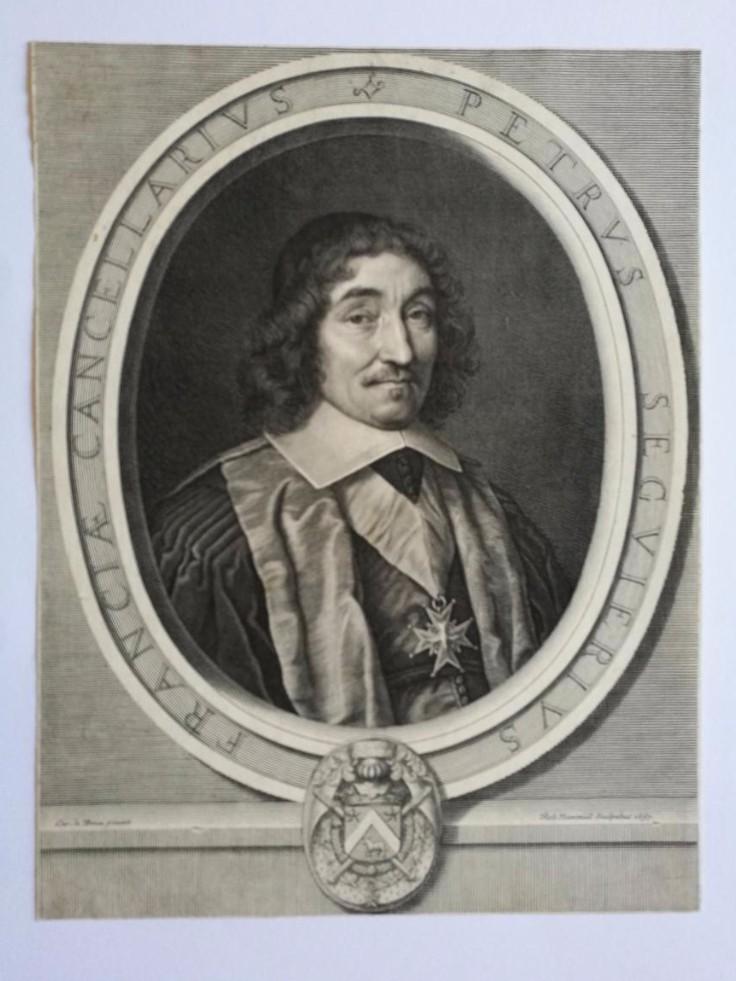Chancelier de France, Pierre Séguier, gravure par Robert Nanteuil, 1657