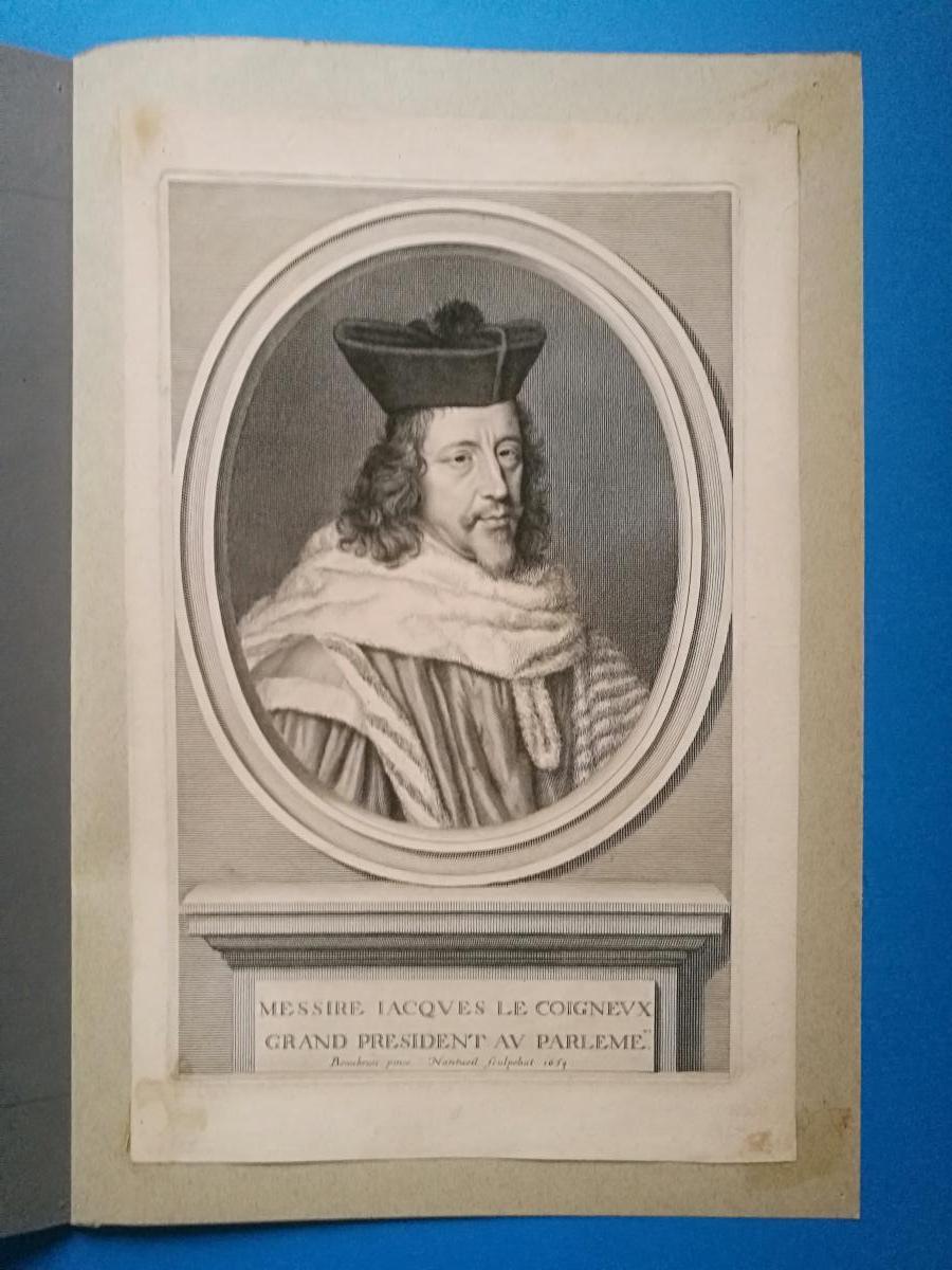Jacques Le Coigneux, Estampe De Robert Nanteuil, 1654