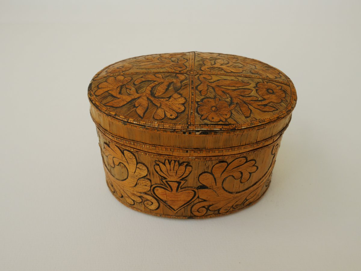 Box Marquetry Birch Bark, Germany, Seventeenth Century
