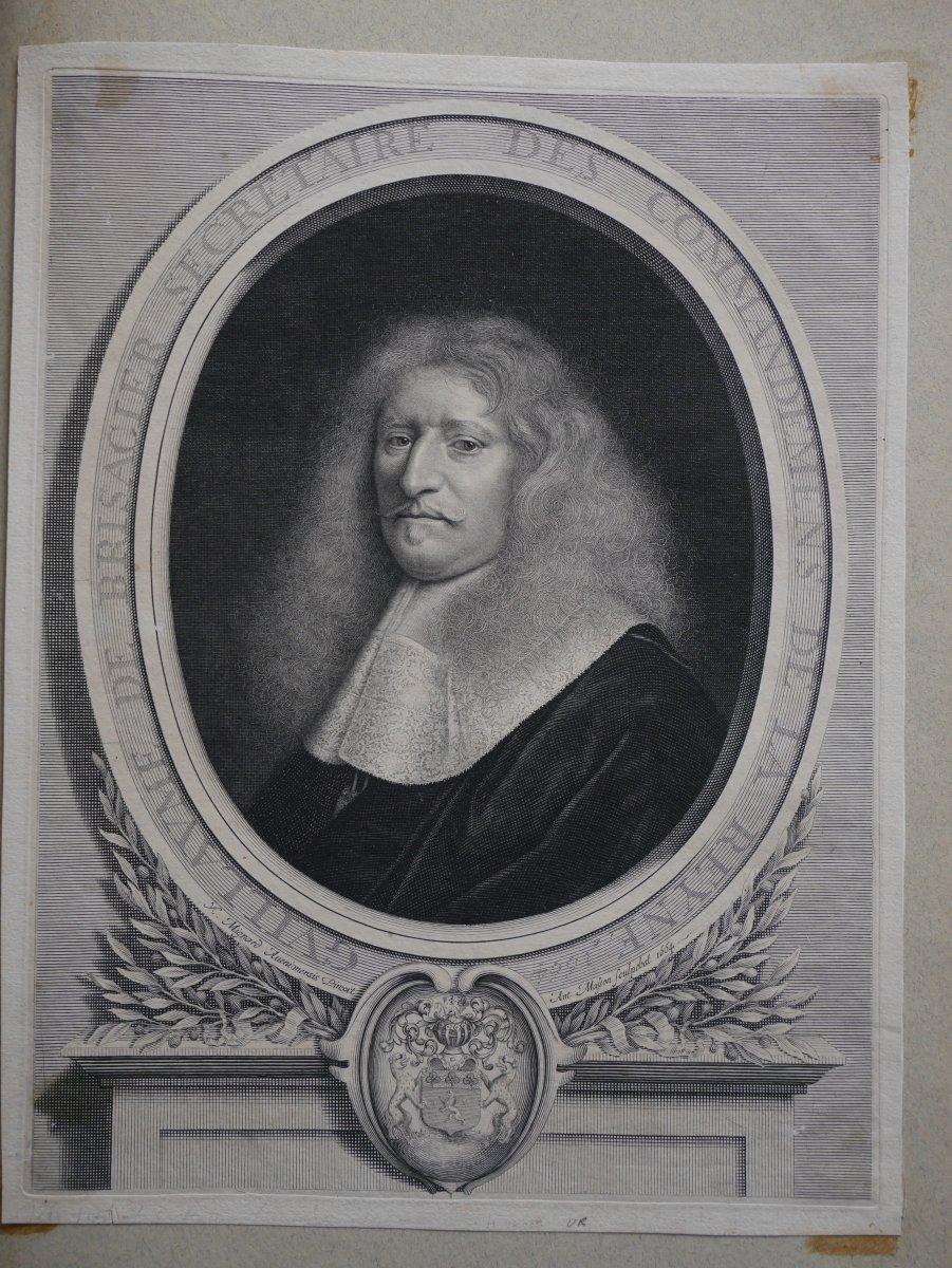 Portrait De Guillaume De Brisacier, Antoine Masson, 1664