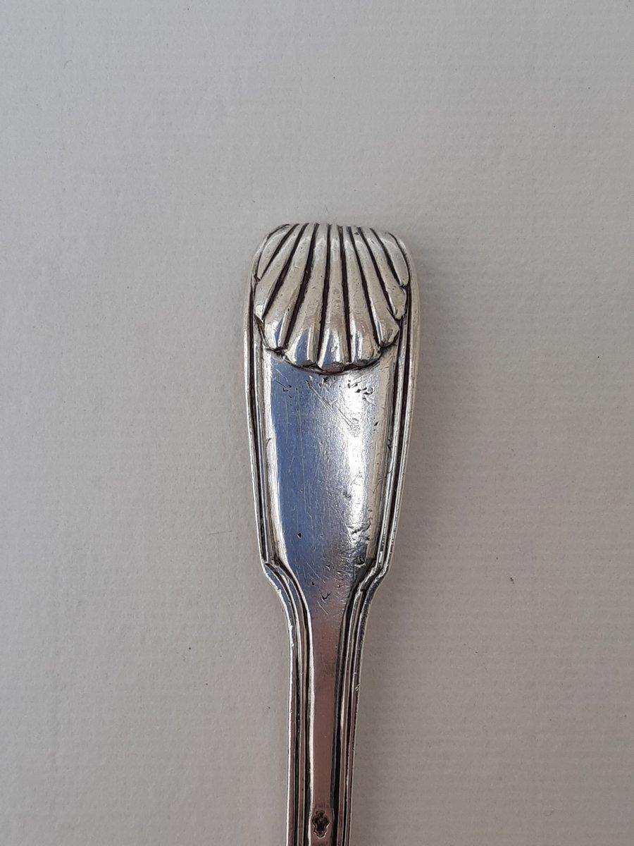 Sugar Spoon, Silver, Rouen, 1736-1737