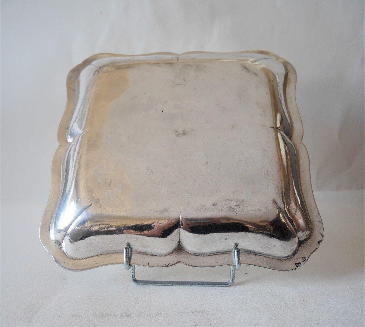 Dish, Sterling Silver By Jean-antoine Bourguet, Paris, 1760-1761-photo-3
