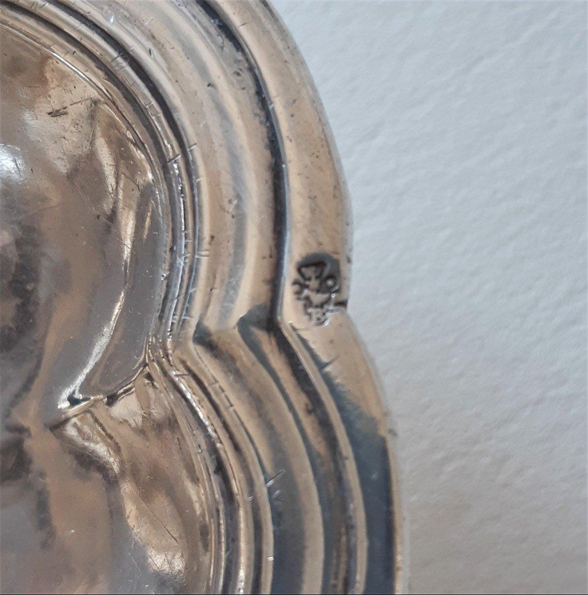 Dish, Sterling Silver By Jean-antoine Bourguet, Paris, 1760-1761-photo-1