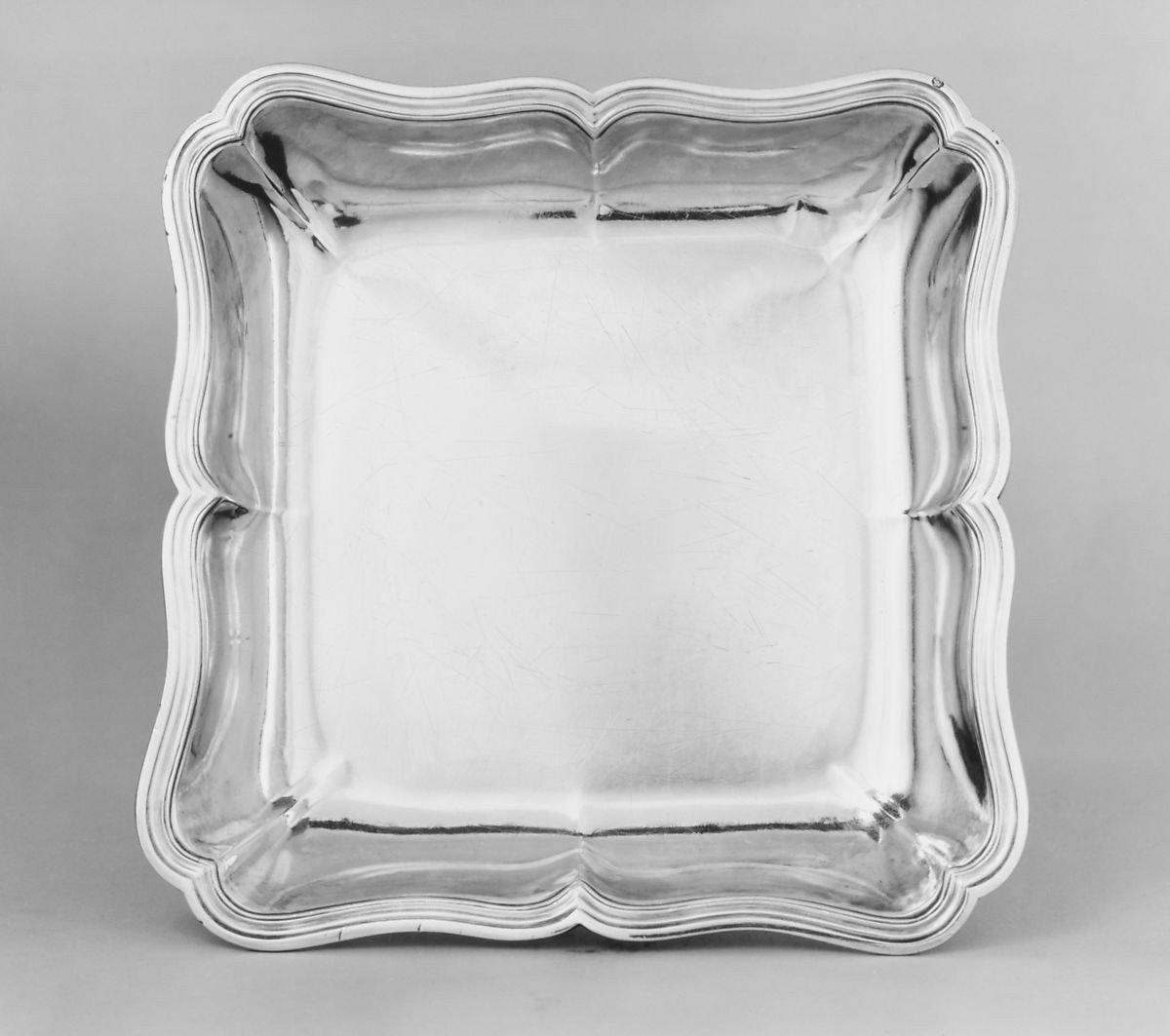 Dish, Sterling Silver By Jean-antoine Bourguet, Paris, 1760-1761-photo-4