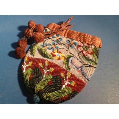 A Beaded Sable Purse, France, Restoration Period