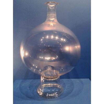 Lampe de dentellière en verre, Normandie, XVIIIe Siècle