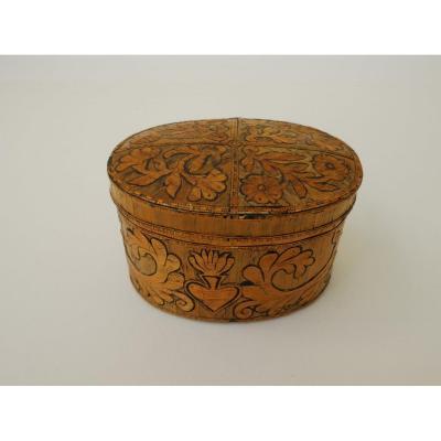 Box Marquetry Birch Bark, Germany, Seventeenth Century