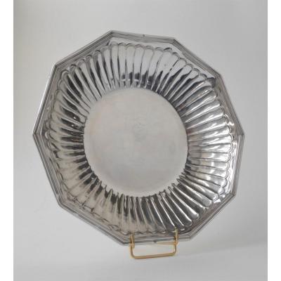 Decagonal Bowl, Sterling Silver,  Henri Lagenet, Rouen, 1722-1726
