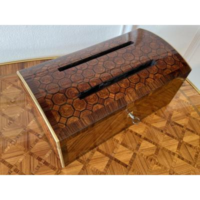 Mail Box Box In Domed Marquetry Napoleon III Period