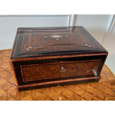 Large Box Box In Marquetry Napoleon III Period