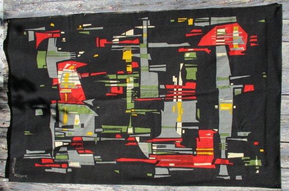 """Royer Christian XX ème siècle """"Abstraction """"Tapisserie Laine Imprimée 98 x 152 cm"""