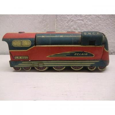 Locomotive Sncf Sheet Metal Model Éclair Cr400 1950s