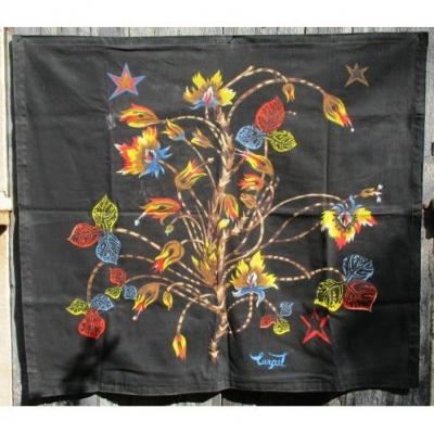 "LurÇat Jean ( 1892-1966 ) "" The Tree "" Printed Textile 126 X 110 Cm 1960 Th"