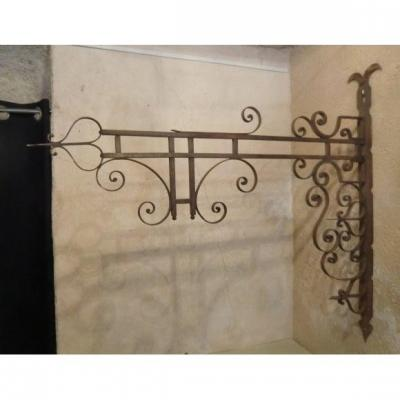 Wrought Iron Gallows Louis XV Style Period XIXth Century 1 Mx 1.10 M