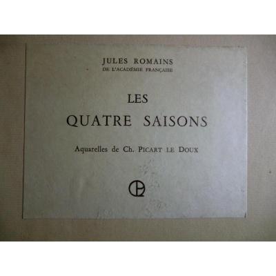 """Picart Le Doux Charles Livre Illustré Jules Romain """"Les Quatre Saisons"""" 1916 Tirage limité"""